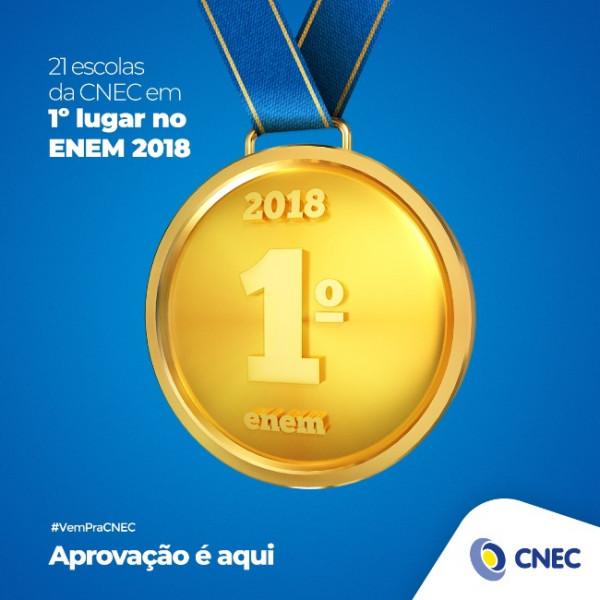 CNEC tem 36 colégios na liderança do Enem por escola dos municípios