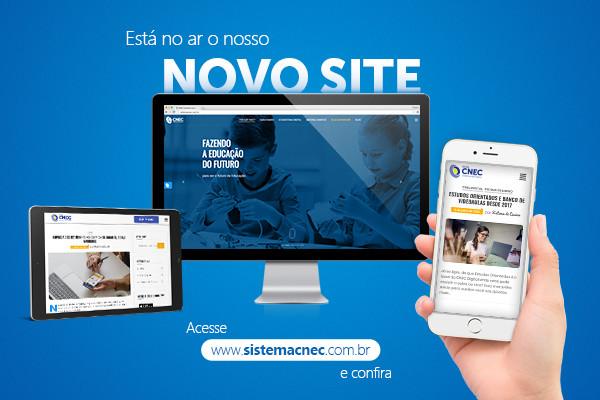 Novo site do Sistema de Ensino CNEC