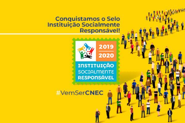 """IES CNEC são certificadas com o """"Selo Instituição Socialmente Responsável"""""""